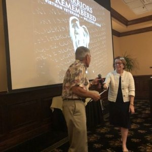 Magic Circle President Mary Schneider - Warriers Remembered Program