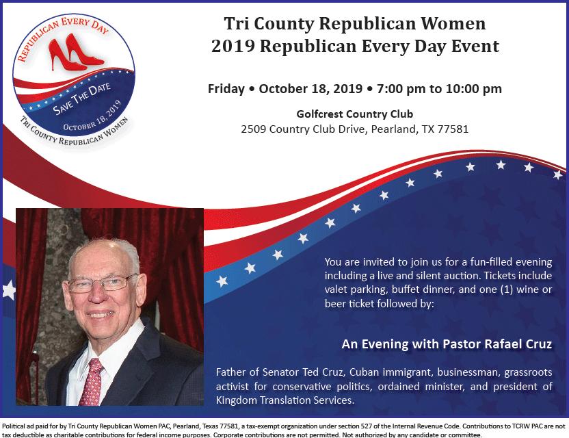 Tri County RW Fundraiser Oct 18